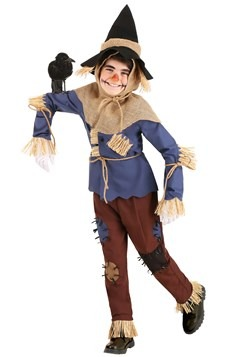 Kid's Patchwork Scarecrow Costume1