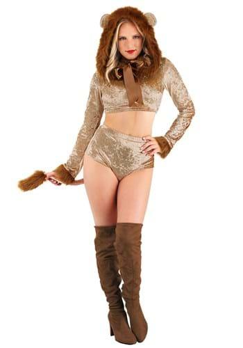 Womens Luxurious Lion Costume