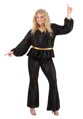 Women's Plus Size Disco Queen Costume Main
