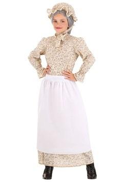 Girls Old Auntie Costume