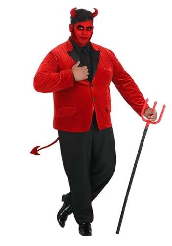 Men's Dashing Devil Plus Size Costume Main