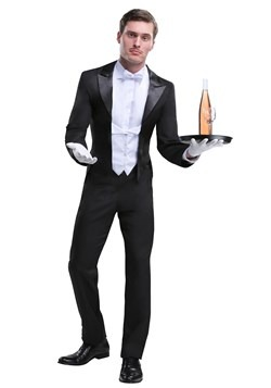 Men's Plus Size Butler Costume