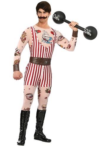 Mens Plus Size Vintage Strongman Costume
