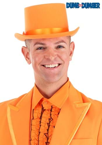 Dumb and Dumber Orange Tuxedo Top Hat