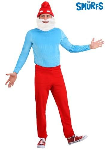 Men's Plus Size Papa Smurf Costume