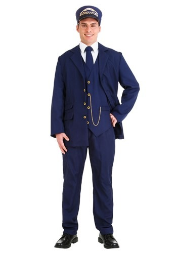 North Pole Train Conductor Plus Size Adult Costume