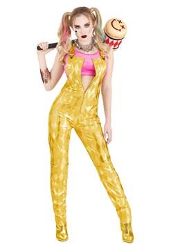 Women's Harley Quinn Gold Overalls Costume