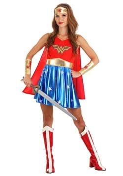 Women's Caped Wonder Woman Costume main1