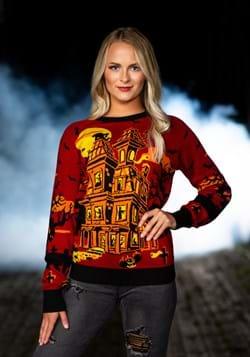 Adult Haunted House Halloween Sweater alt1