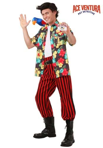 Plus Size Ace Ventura Costume with Wig