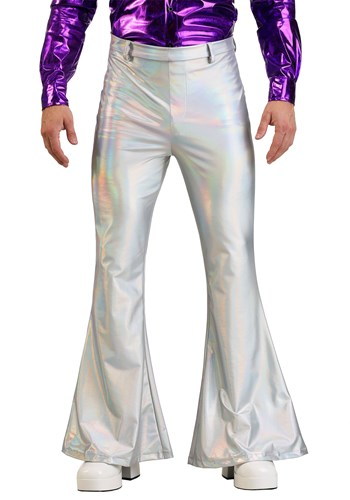 Men's Plus Size Holographic Disco Pants1