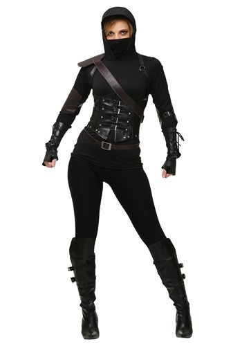 Womens Plus Size Ninja Assassin Costume