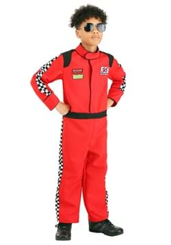 Red Racer Jumpsuit Costume for Kid's