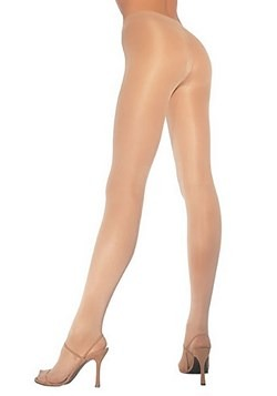 Womens Nude Opaque Pantyhose