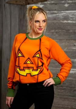 Adult Pumpkin Halloween Sweater Update