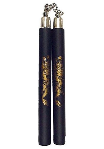 Dragon Print Foam Nunchucks