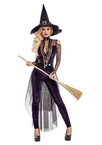 Women's Midnight Violet Witch Costume