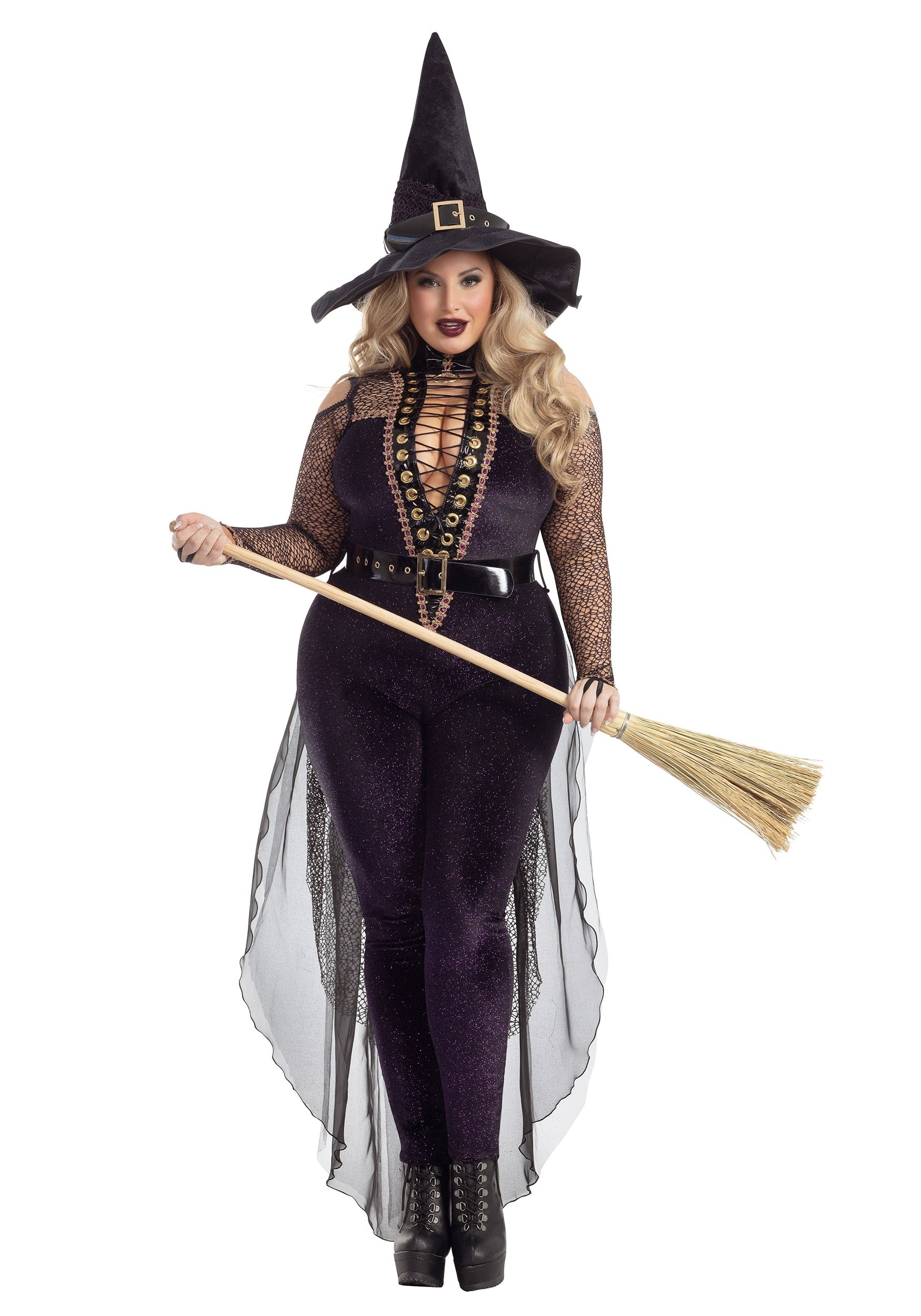 Adult Sequin Iridescent Halloween Costume Witches Witch Hat