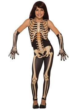 Girl's Pretty Bones Skeleton Costume