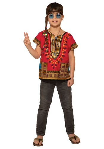Kid's Red Dashiki Shirt Costume