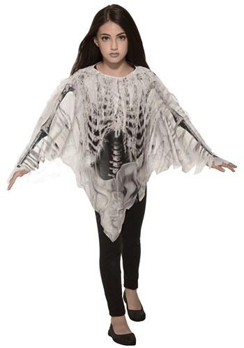 Girl's Tattered Skeleton Poncho Costume update1