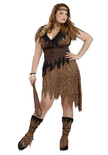 Women's Plus Size Cave Beauty Costume