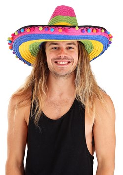 Deluxe Multicolor Striped Sombrero Upd