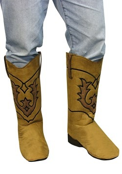 Adult Western Brown Cowboy Boot Covers
