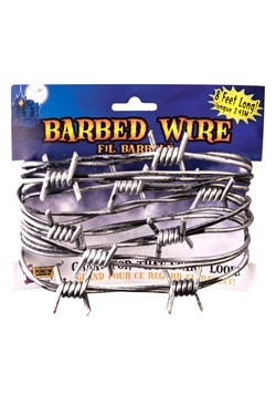 8' Silver Barbed Wire Decoration