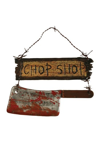 "16"" Chop Shop Cleaver Sign Decoration"