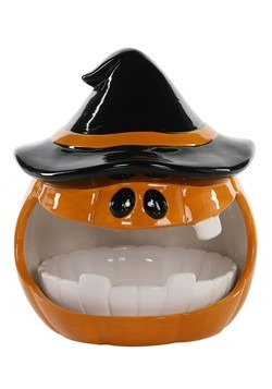 Ceramic Pumpkin w/ Teeth Bowls Halloween Decoration