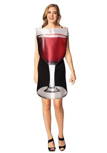 Women's Glass of Red Wine Costume
