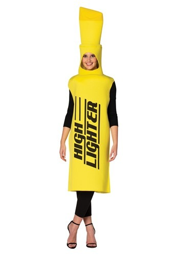Adult Yellow Highlighter Costume