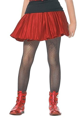 Kids Black Fishnet Stockings