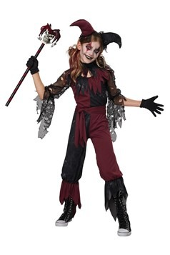 Girl's Psycho Jester Costume