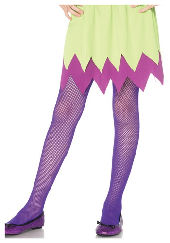 Click Here to buy Kids Neon Purple Fishnet Tights from HalloweenCostumes, CDN Funds