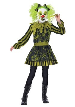 Girl's Snots Of Fun Clown Costume