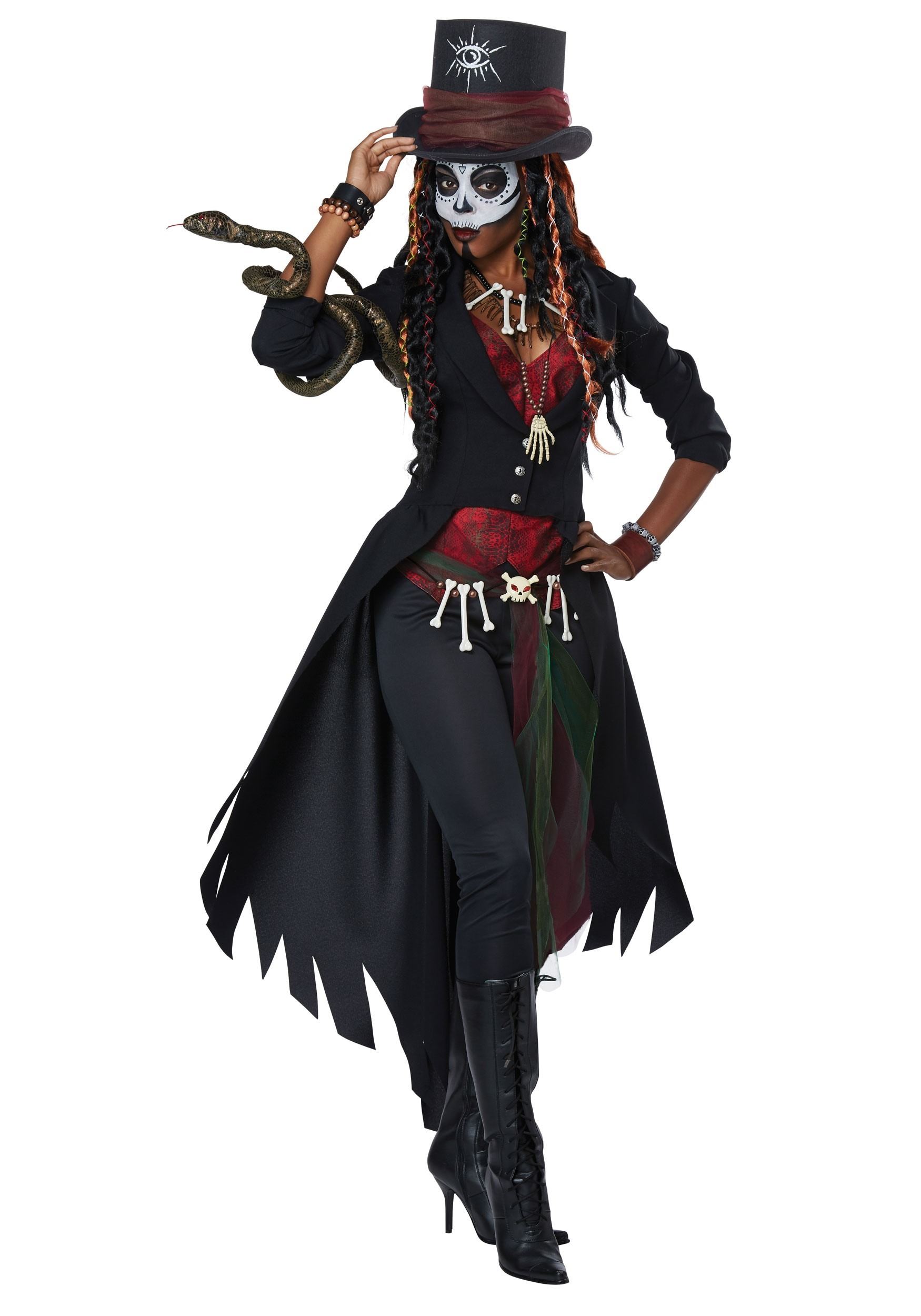 Womens Plus Size Voodoo Magic Costume