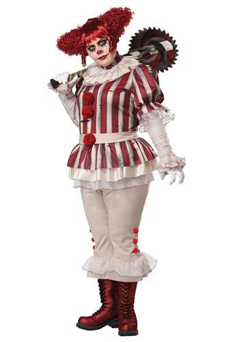 Women's Plus Size Sadistic Clown Costume