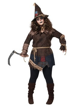 Women's Plus Size Creepy Scarecrow Costume