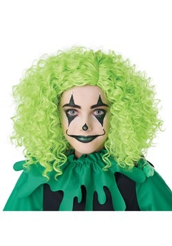 Corkscrew Clown Green Curls Wig