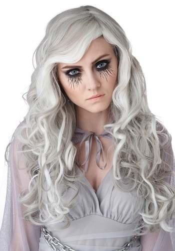 Women's Gray Glow In The Dark Wig