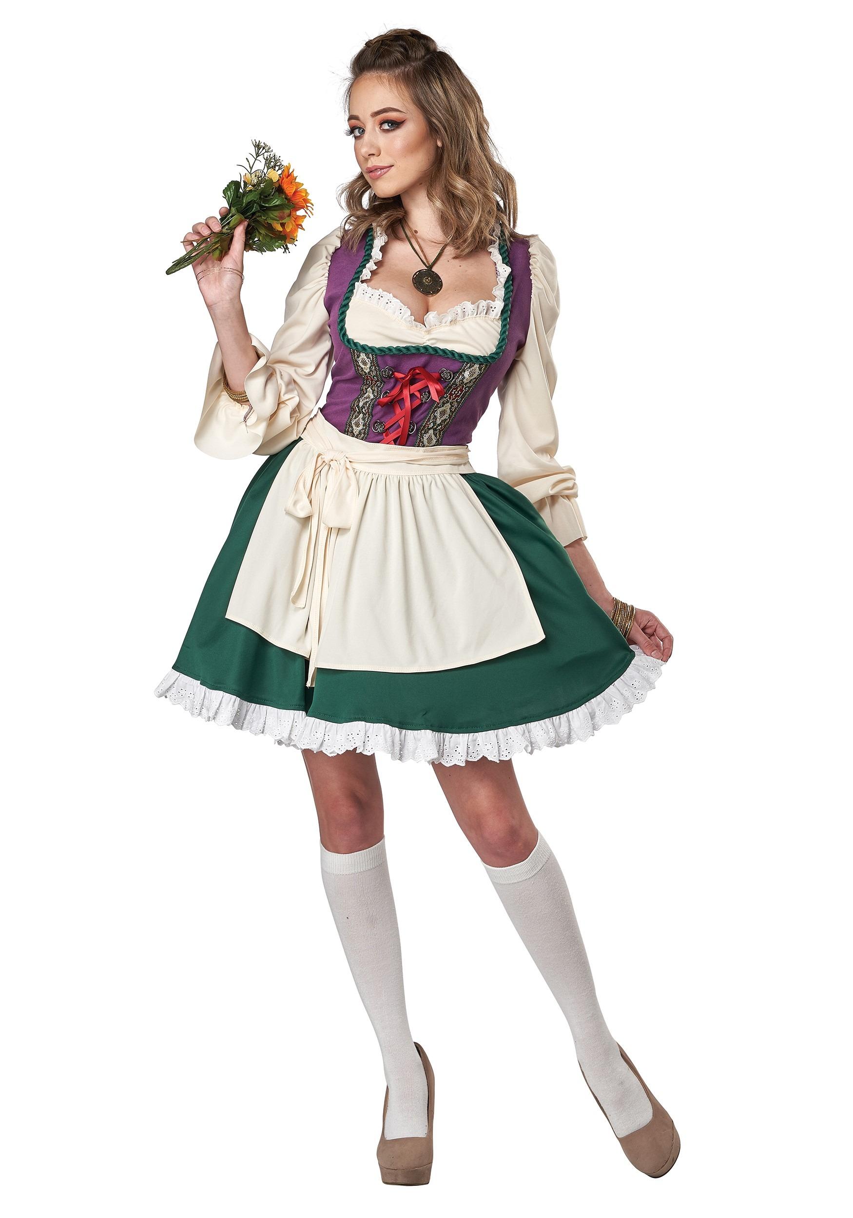 Beer Garden Girl Corset Top Oktoberfest Fancy Dress Halloween Costume Accessory