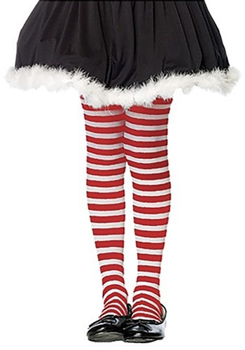 Kids Red and White Striped Tights By: Leg Avenue for the 2015 Costume season.