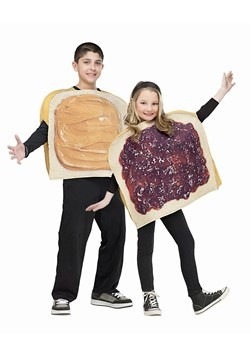 Kids Peanut Butter and Jelly Costume Upd