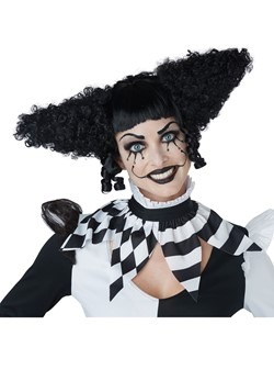 Black Creepy Clown Wig