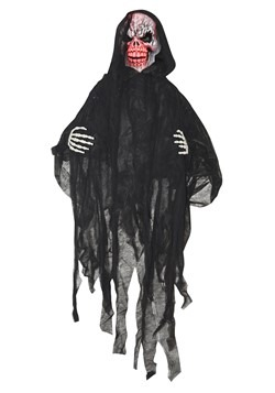 5' Light Up Black Reaper Decoration