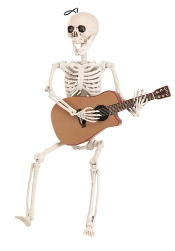 Animated Skeleton with Guitar Decoration