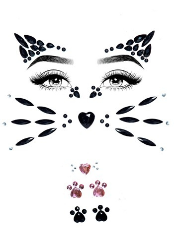 Animal Adhesive Face Jewel Kit