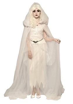 Adult White Hooded Cape